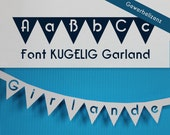 """Garland Font for Cutting Machines """"KUGELIG Garland"""" [commercial licence]"""