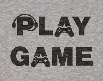 """Plotterfile """"Play"""" & """"Game"""" for shirts [DXF, SVG]"""