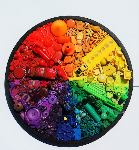 Magpie Colour Wheel Recycled Objects 003 Etsy