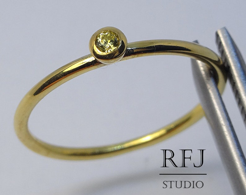 Birthstone Ring Sterling Silver or Yellow Gold Plated Silver Citrine /& Diamond Ring