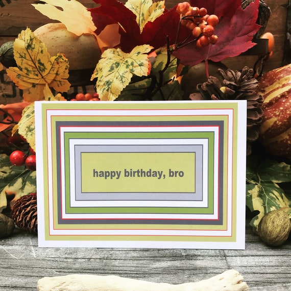 Happy Birthday Bro, Cards for Friends, Brother, Birthday Card for Men, Mens  Cards