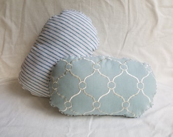 Dual Pattern Oval Pillow