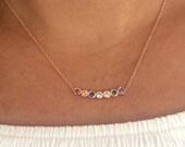 Custom birthstone necklace, Mothers necklace, Family birthstone necklace, Friends Necklace, Personalized birthstone necklace