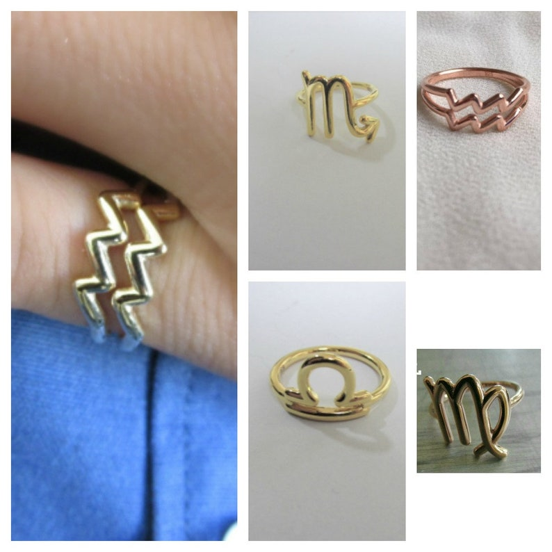 Zodiac Ring Astrology Sign Ring Astrology Jewelry Horoscope image 0