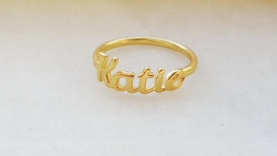 Custom Name Ring Personalized Silver Name Ring Womens Etsy