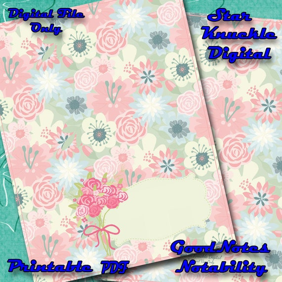 graphic relating to Printable Notebook Cover referred to as Pill Laptop computer IPad Professional GoodNotes Laptop computer Electronic Laptop computer Deal with Electronic Magazine Deal with Address Floral Laptop Printable Laptop computer Deal with