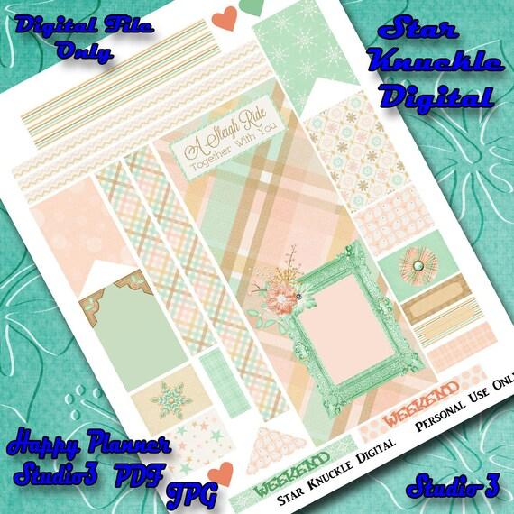 Printable Planner Mambi Stickers Happy Planner Printable Weekly Kit Planner  Create 365 Happy Planner Accessories Sampler Printable Sticker