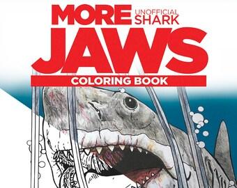 MORE JAWS Shark Coloring Book