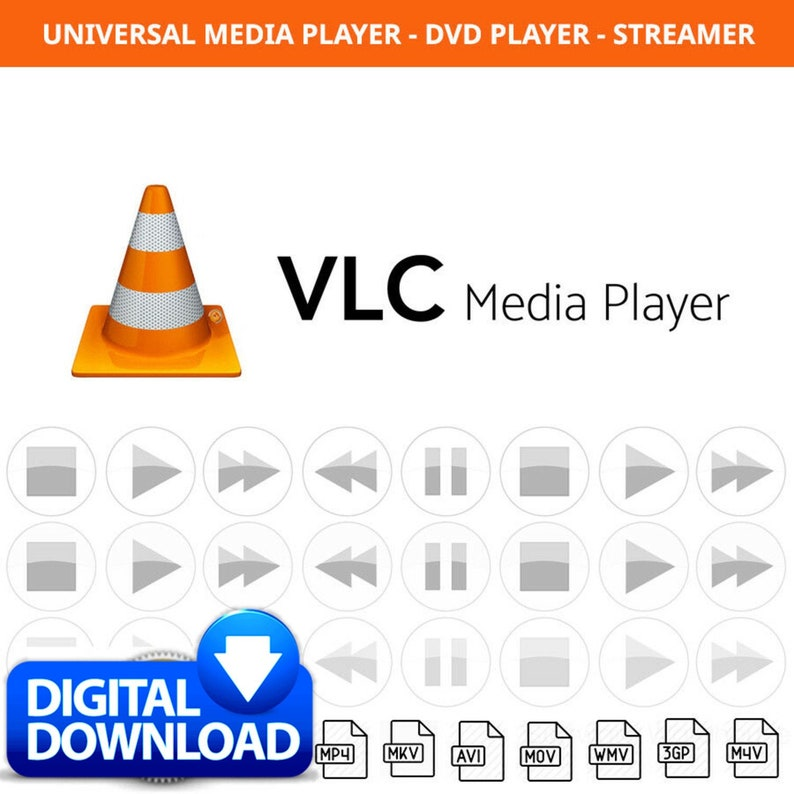 VLC Universal Media Player Audio, Video, Dvd Player Software for Windows &  Mac - Play any video files easily - DIGITAL DOWNLOAD