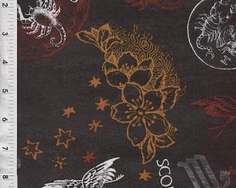 0ebc58a0f78a Horoscope Astrology Fabric - Fabri-Quilt Horoscope New Dawn Scorpio Sign  Fabric 100% cotton Fabric by the yard FQ209