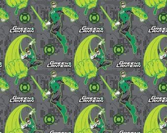 Green Lantern Black Interior Cotton Fabric Bag