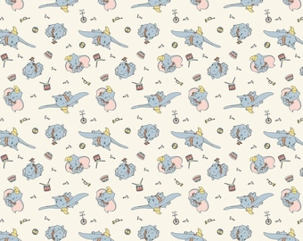 Disney Classic Dumbo 66398 Many Faces of Dumbo 100/% Cotton Fabric By the yard