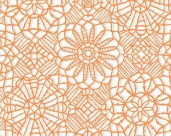"Michael Miller /"" Fishtopia /"" Coral Lace Apricot"