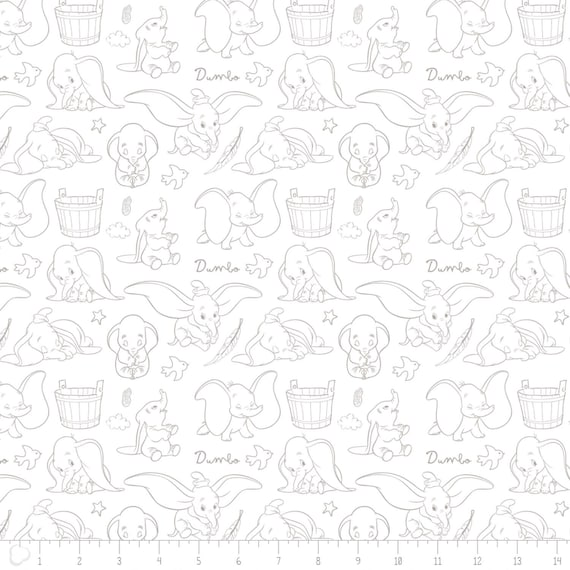 Material Kids Fabric DISNEY Cotton Fabric Quilting DUMBO Fabric