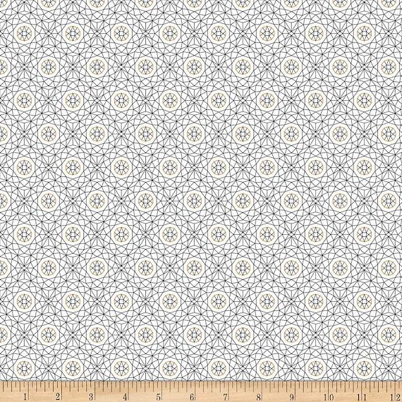 Pattern Fabric: QT Fabrics Whisper Geometric Fabric, White 100% cotton Fabric by the yard (QT822)
