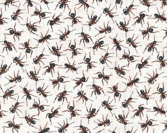 """In stock - New Ant Fabric:  Fabri-Quilt You Bug Me Ants All Over  100% Cotton Fabric by the yard 36""""x43"""" FQ33"""