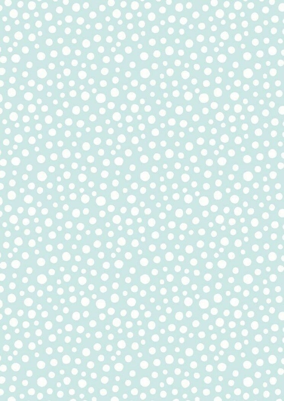 Christmas Fabric: Lewis & Irene Christmas Hygge Christmas Snow Day Snowfall Dot on Icy Light Blue 100% cotton fabric by the yard (M512)