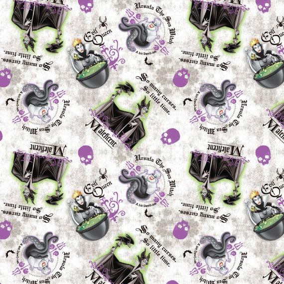 100/% Cotton Fabric Springs Creative Disney Evil Queens Schooled In Cruel