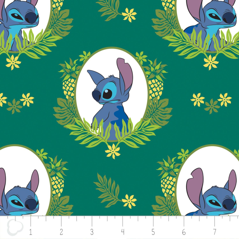 New Disney Fabric: Camelot Disney Lilo & Stitch - Stitch Tropical ...