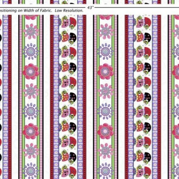 LAZY LITTLE LADYBUGS LADYBUGS Lilac 100/% cotton fabric by the yard