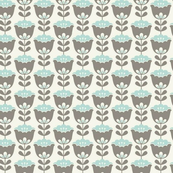 Floral Fabric: David Textile Holland Small Floral Stripes Light Cream 100% cotton Fabric By The Yard (DA103)