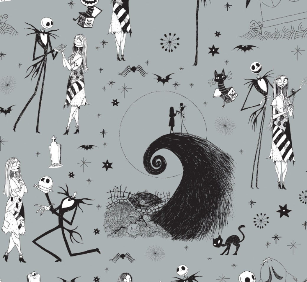 In Stock: Disney Fabric- The Nightmare Before Christmas - Jack ...