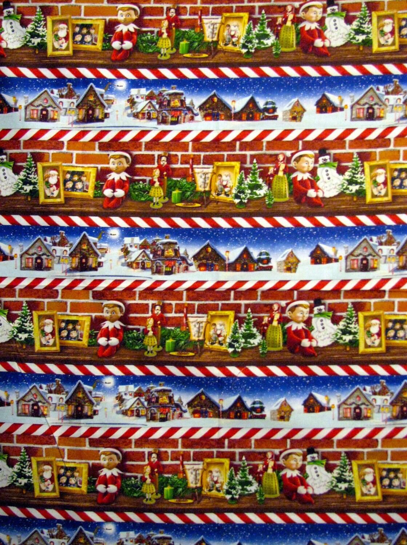 Christmas Fabric Elf Fabric An Elf Story Elf On The