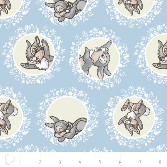 Disney Bambi /& Friends Patch 100/% cotton fabric by the yard