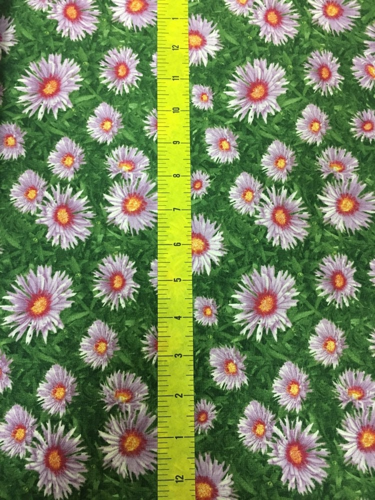 Floral Fabric Wilmington Prints Fall Glory Lavender Daisy