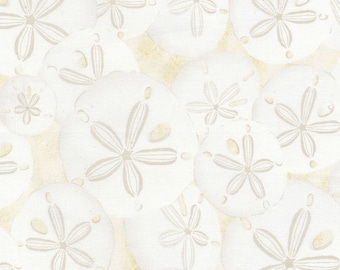 Timeless Treasures Beach Haven Sand Dollars Cream 100% cotton Fabric by the yard (TT63 )