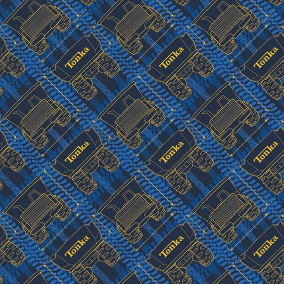 Toy Fabric, Truck Fabric: Camelot Tonka Dimensions Blue Premium  100% cotton Fabric by the yard ( CA1401KK)
