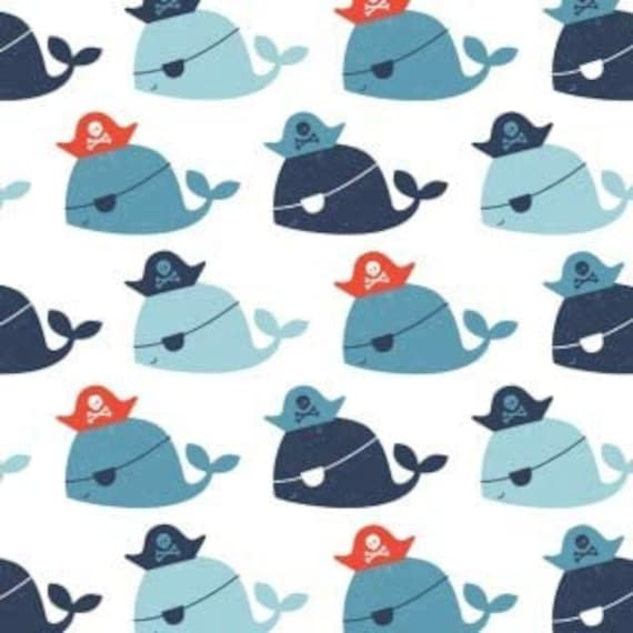 Camelot Marine Life Navy Sailor Children Life in Ocean with Pirate Boats Premium 100/% cotton Fabric by the yard Cartoon Fabric CA1055KK