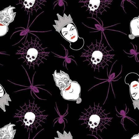 Disney Villains Spell Casting premium 100/% cotton fabric by the yard