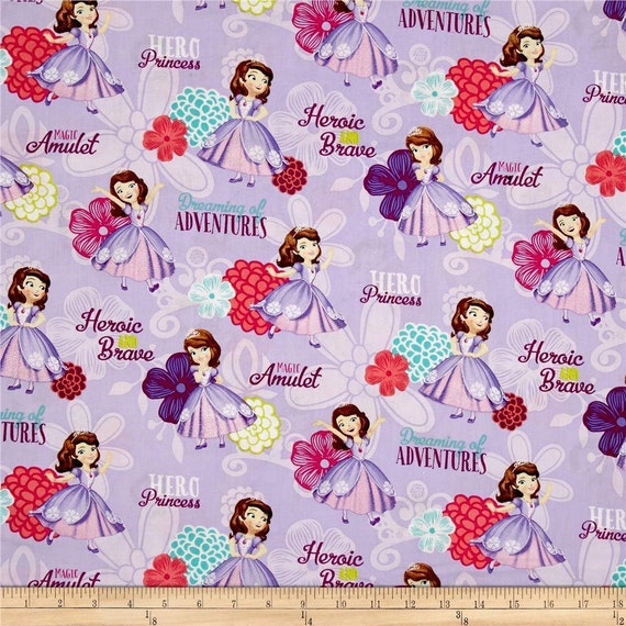 FabricPrincessSofia By The Lavender Princess Fabric Disney First Yardsc102 100Cotton Garden Floral 80wkXnOP