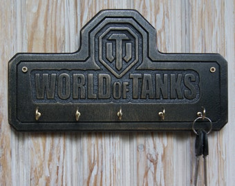 Unique Key Holder For Wall World Of Tanks For Gamers Fun