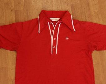 b4d265f9e 1970s Grand Slam Red and White Munsingwear shirt