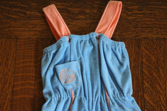 Vintage Wrangler Kids Baby Blue and Pink Terry Clo