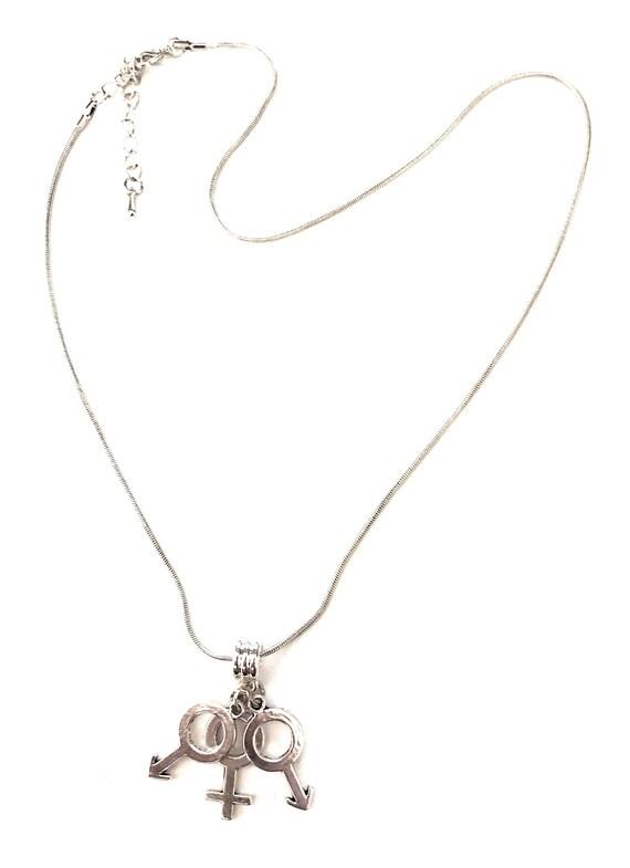 Hotwife /'MFMF/' Male Female Male Female Threesome Euro Necklace Lifestyle Symbols