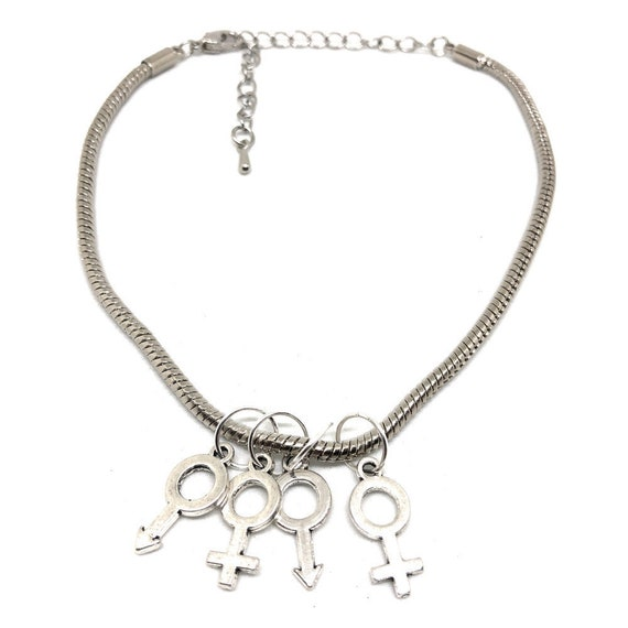 Gold Hotwife /'MFM/' Male Female Male Threesome Euro Necklace Fetish Symbols