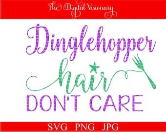 Dinglehopper Hair Don't Care Mermaid Summer Vacation Ocean Sea Cruise Boat Ship SVG JPG PNG Cut file for Silhouette, Cricut, Scan N Cut