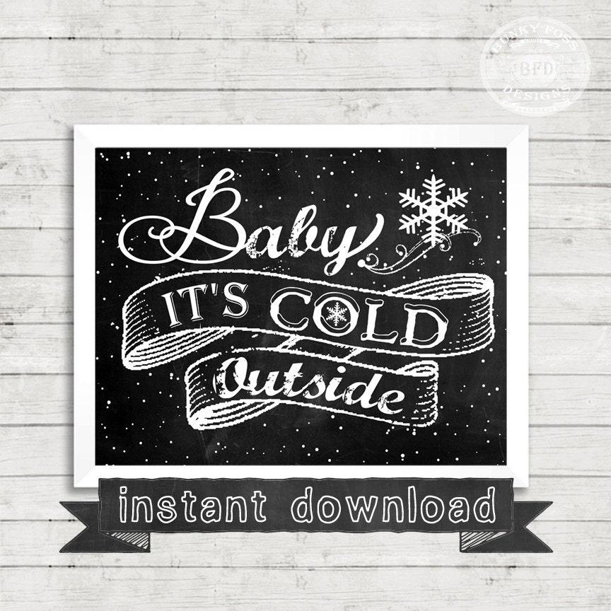 Weihnachten bedruckbar Baby es ist kalt Oustide Kälte | Etsy