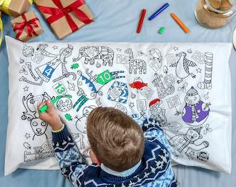 Colour-in Pillowcase - Christmas