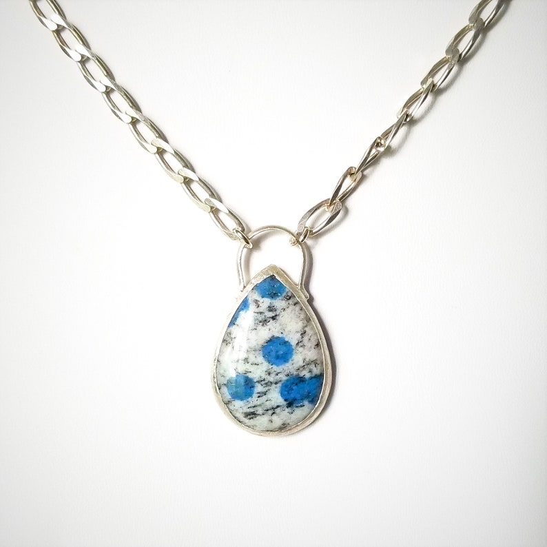 K2 Jasper Pendant with Refurbished Sterling Silver Chain image 0