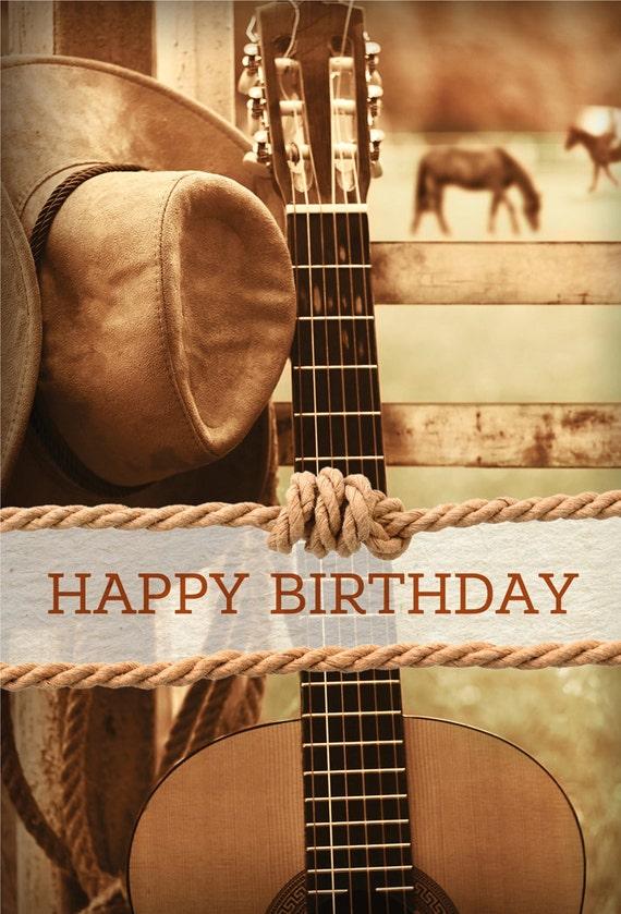 Cowboy Geburtstagskarte | Etsy