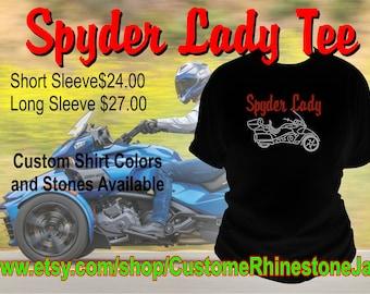 92f2aadb0a8 Can Am Spyder Lady Rhinestone Shirt