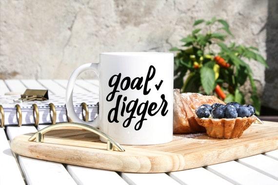 Goal Digger Mug Planner Addict Gifts Agenda Mug New Year | Etsy