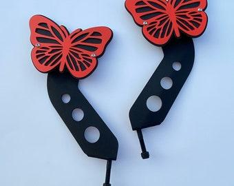 Butterfly hinge mount side mirrors for Wrangler & Gladiator