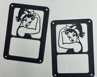 Jeep Girl Rosie tail light covers