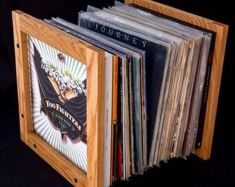 Lecube solid hardwood vinyl lp storage.