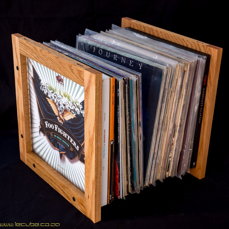 Lecube solid hardwood vinyl lp storage. image 0